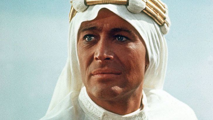 """Peter O'Toole em """"Lawrence da Arábia"""" (1962) © Columbia Pictures"""