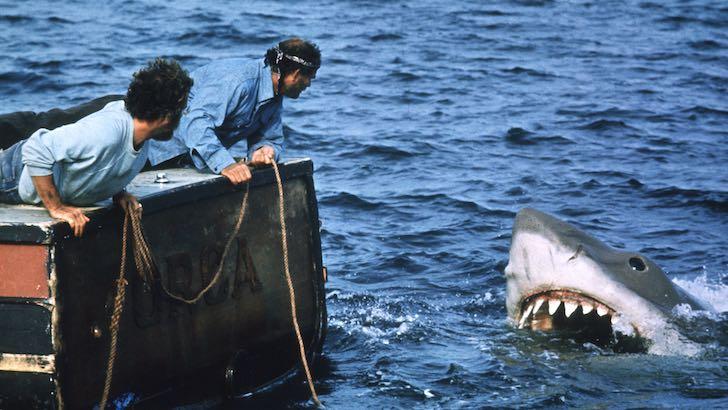 "Richard Dreyfuss e Robert Shaw em ""Tubarão"" (1975) © Universal / Bud Gray"