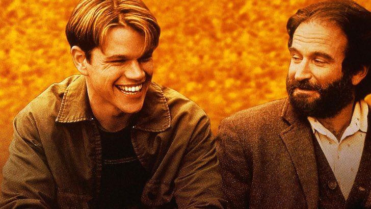 """Matt Damon e Robin Williams em """"O Bom Rebelde"""" (1997) © Be Gentlemen Limited Partnership"""