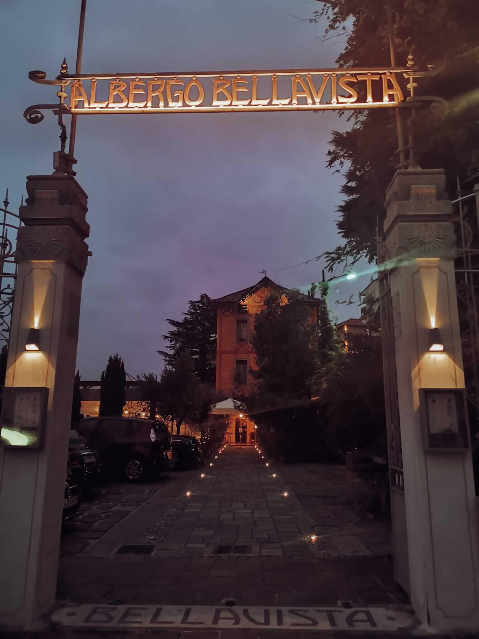 entrada do Albergo Bellavista em Brunate